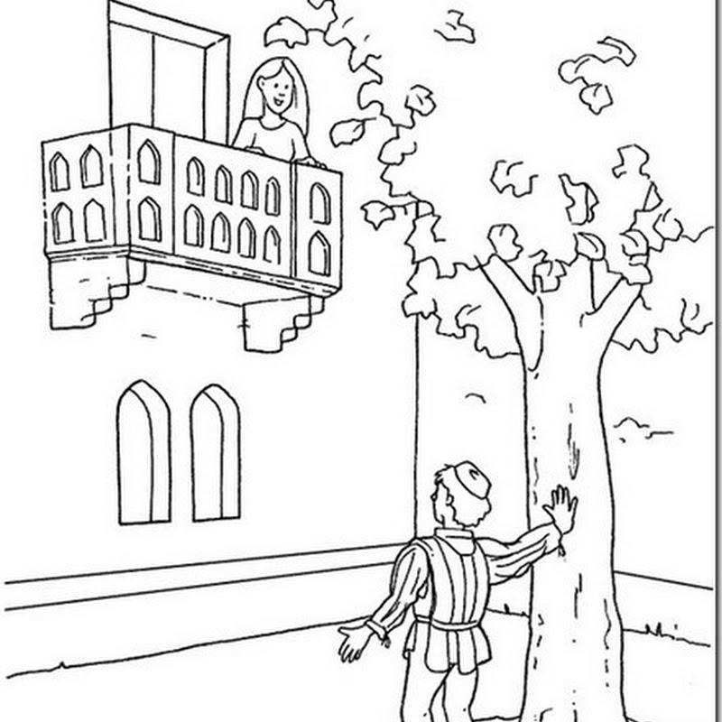 Dibujos De Romeo Y Julieta Para Colorear
