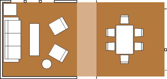 Combined Dining and Living Room