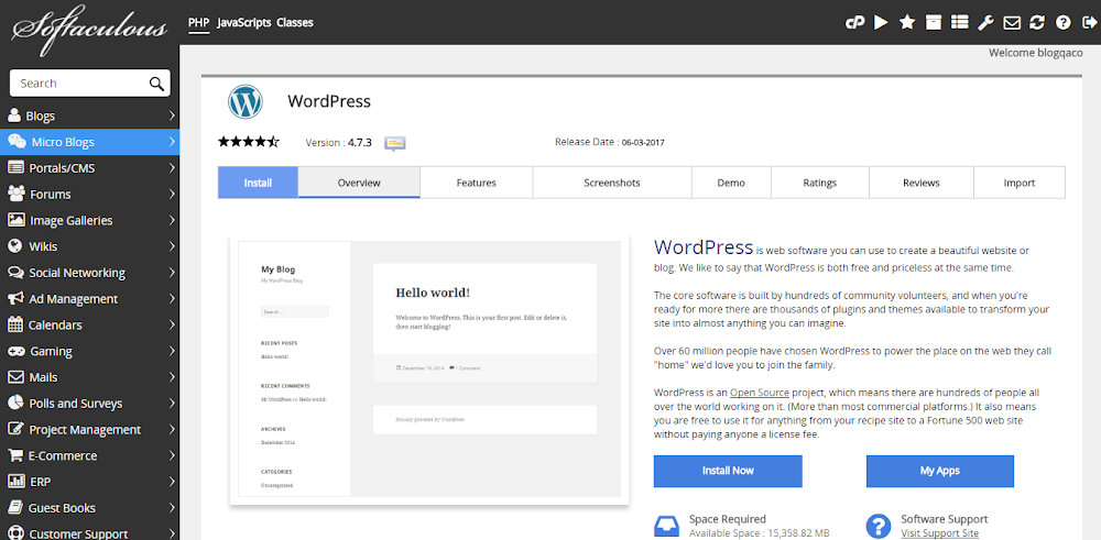 Hinh anh: Man hinh cai dat WordPress