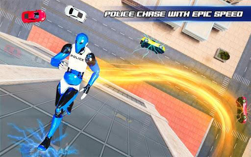 Grand Police Robot Speed Hero City Cop Robot Games 4.0.0 screenshots 5