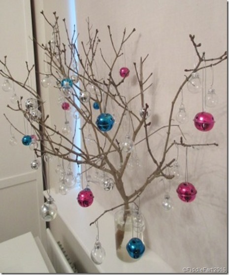 Festive twig tree display