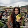 Линда - доволна на пазара в град Костенец