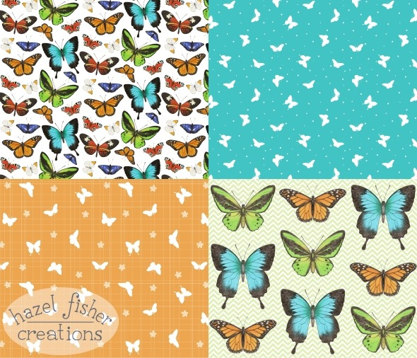 2015Aug19 Spoonflower Contest Butterfly Coordinates fabric surface pattern design hazelfishercreations