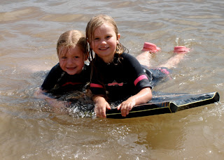 Kate and Jasmijn in Sidmouth Surf