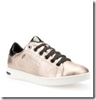 Geox Jaysen Metallic Leather Trainers