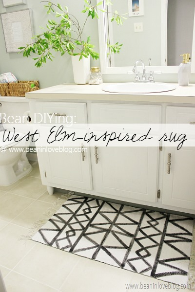 diy west elm rug