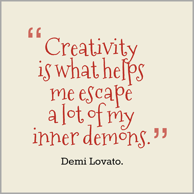 Creativity-is-what-helps-me__quotes-by-Demi-Lovato.-88