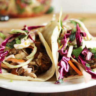Barbecue Pulled Pork Tacos with Crunchy Slaw.