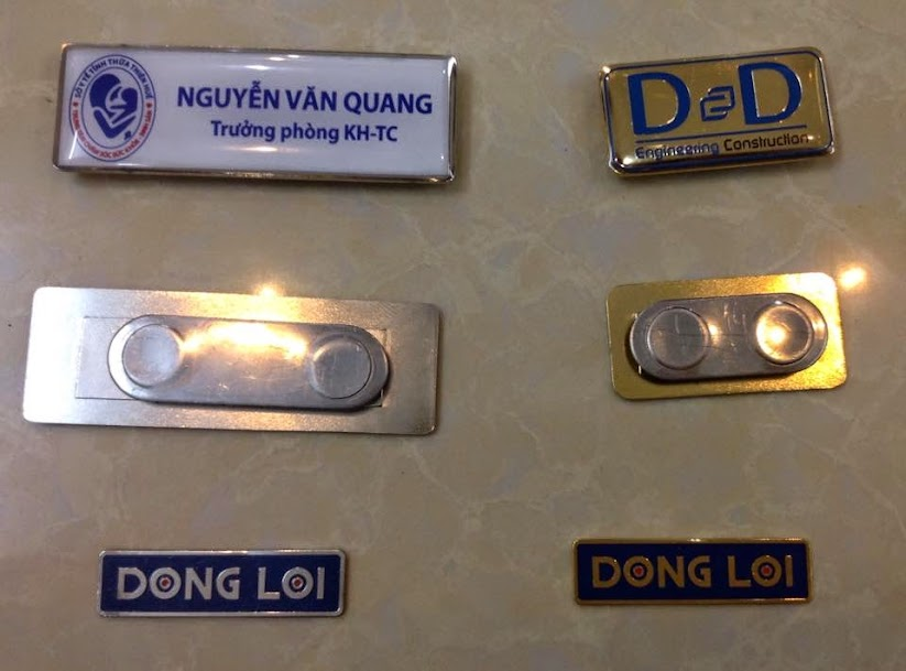 Huy hiệu bảng tên, xưởng sản xuất huy hiệu bảng tên giá rẻ,