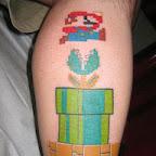 leg - Super Mario Bros Tattoos Pictures