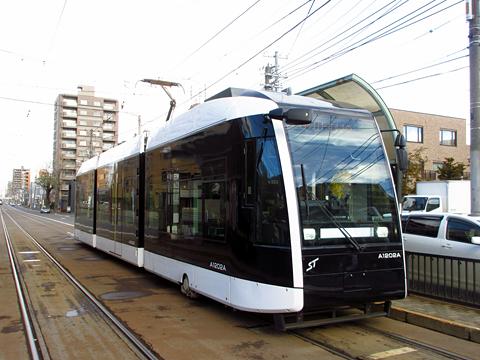 札幌市電 A1202号「ポラリス」 電車事業所にて