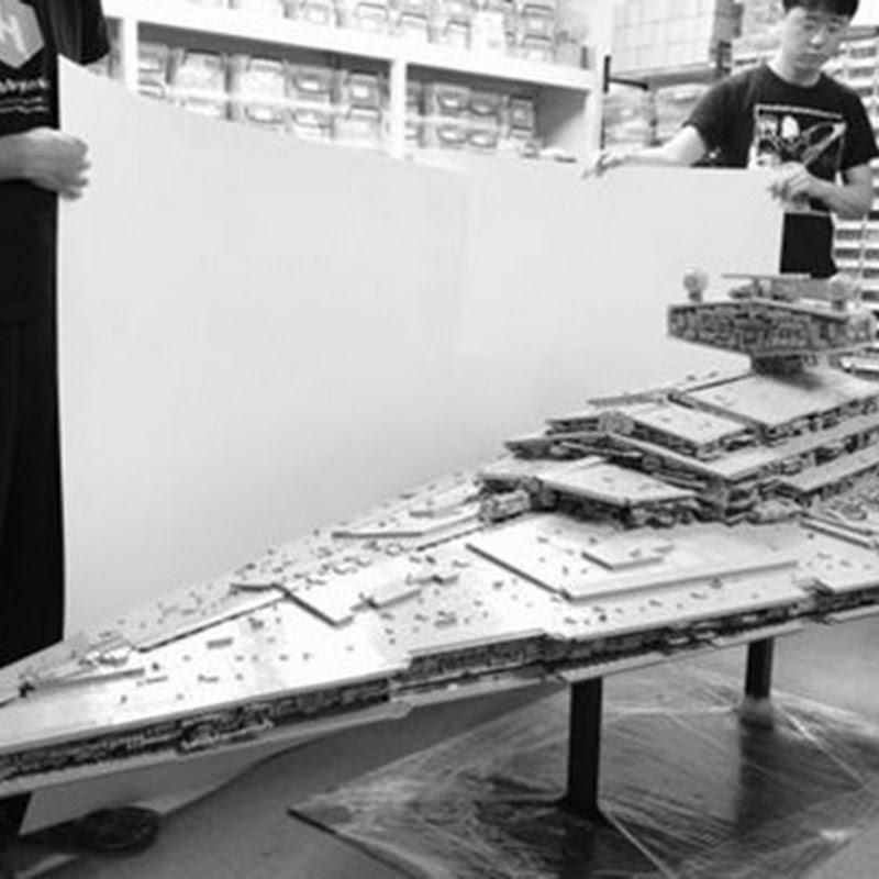 Sehen Sie sich diesen riesigen LEGO Star Destroyer an