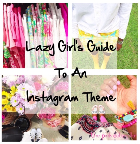00699317f47 The Pink Caterpillar: Lazy Girl's Guide to an Instagram Theme