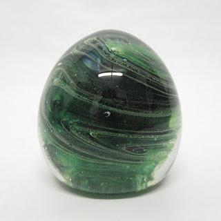 Green Art Glass Paper Weight