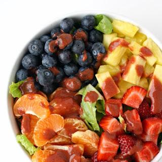Fruit Salad with Strawberry Vinaigrette