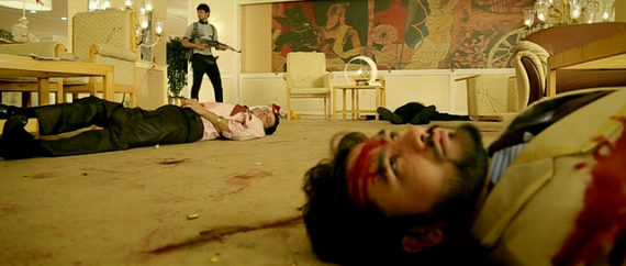 Screen Shot Of Hindi Movie The Attacks of 26/11 (2013) Download And Watch Online Free at Alldownloads4u.Com