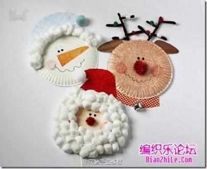 navidad manualidad con platos (5)