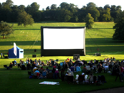 Outdoor cinema at Kedleston Hall in Derbyshire