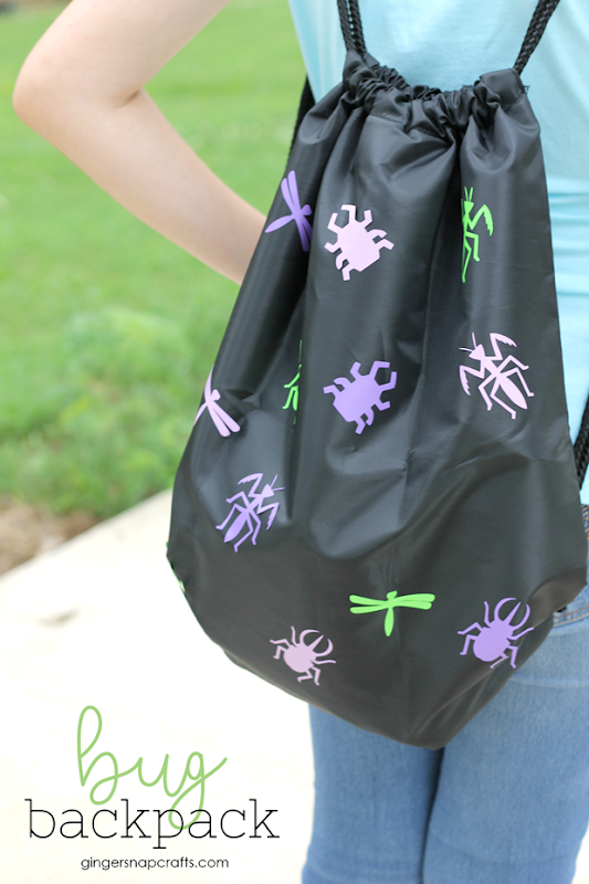 bug backpack at GingerSnapCrafts.com #kid #kidcrafts