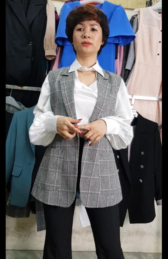 mix đồ áo Vest Nữ với quần Ống Loe thời trang thuỷ thanh hoá