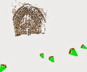 Nuage de point grossier avec positions des prises de vues obtenu avec AperiCloud