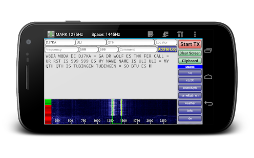 DroidRTTY for Ham Radio- miniatura screenshot
