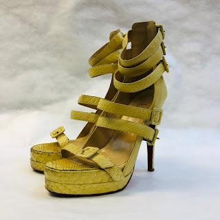 Christian Louboutin Yellow Python Heels