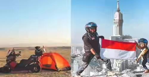 Masyaallah Ayah & Anak Naik Motor dari Kota Jambi ke Tanah Suci, 8 Bulan Perjalanan Melintasi 10 Negara