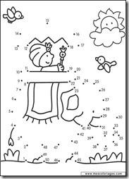 Dibujos para unir puntos con números