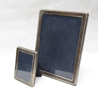 Sterling Silver Picture Frame Pair