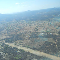 The Magambua airstrip from the air.