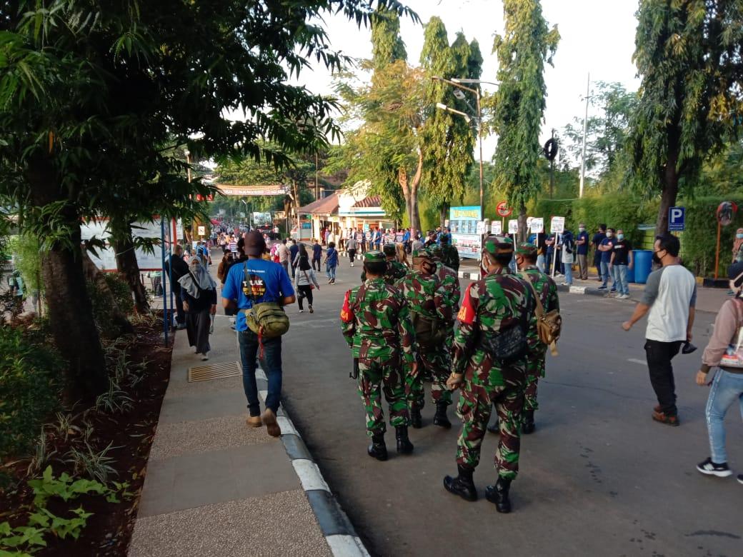 Danramil 03/Serpong Pimpin Monitoring Pengamanan Unras di PT Pratama Abadi