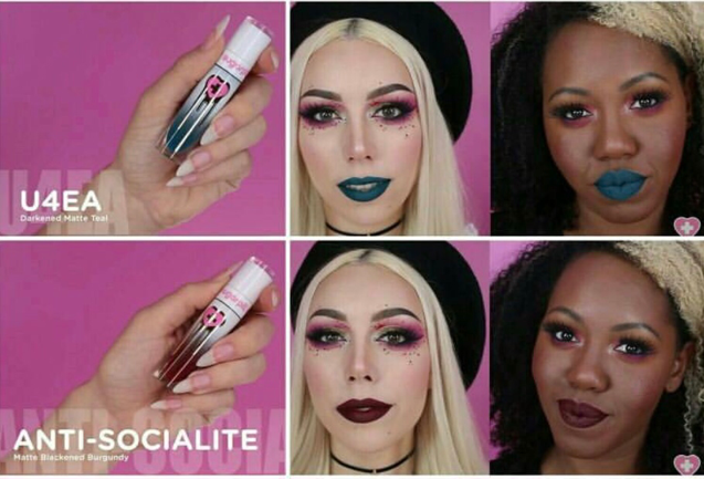 Sugarpill U4EA and Anti-Socialite Liquid Poison liquid lipsticks