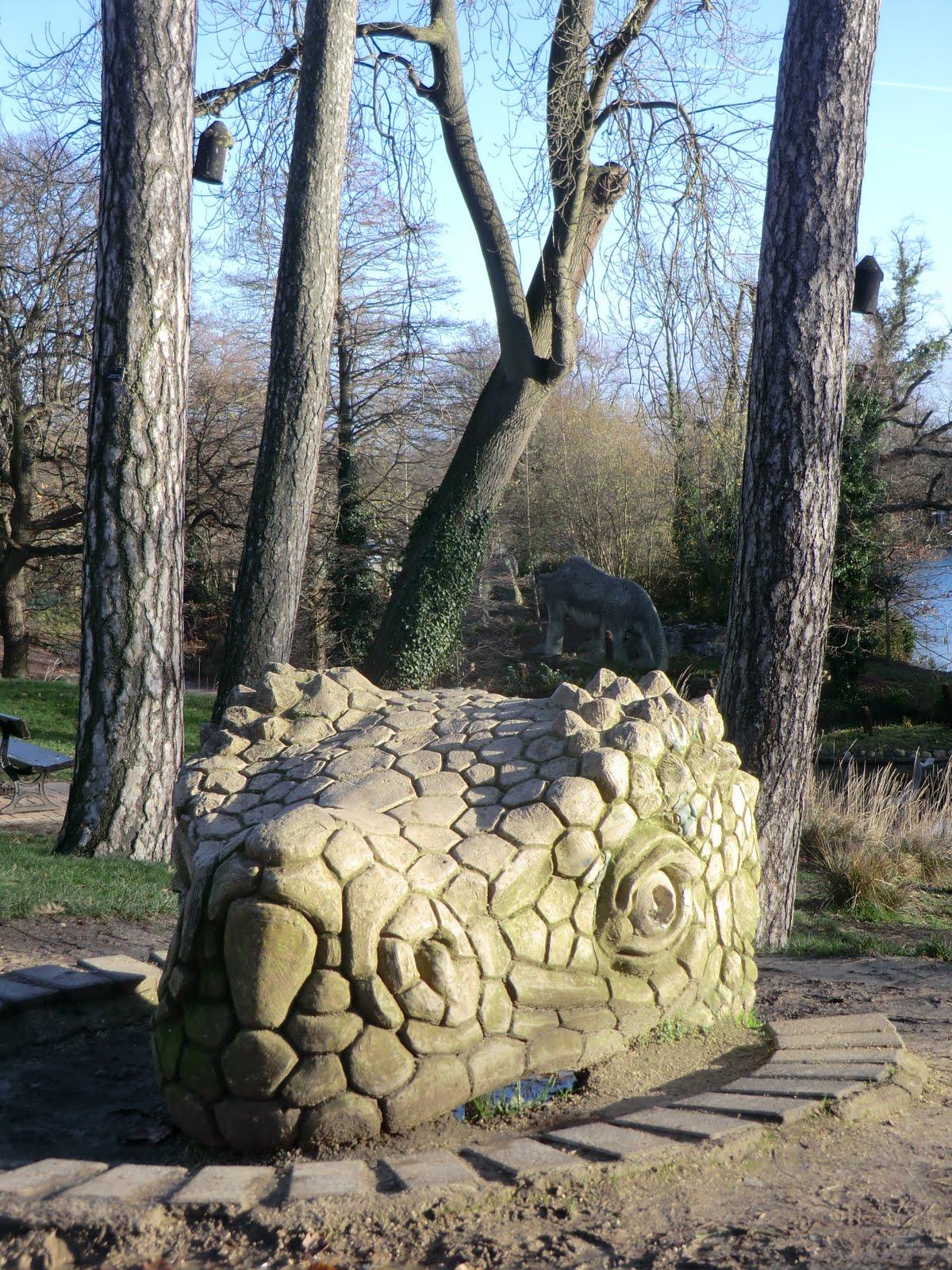 CIMG6344 Dinosaur head, Crystal Palace Park