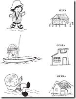 Las casitas y sus regiones