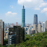 mesmerizing views of Taipei 101 from Elephant Mountain in Taipei, T'ai-pei county, Taiwan
