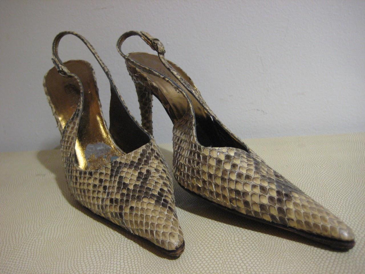 Dolce & Gabbana Python Pumps