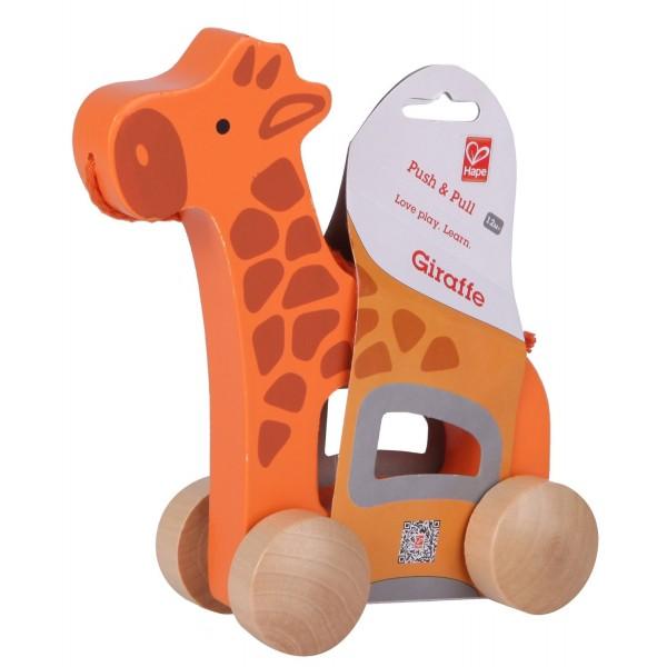 Xe kéo đồ chơi hình hươu cao cổ Hape E0906A
