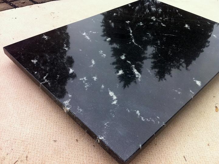 Couchtischplatte Marmorplatte Granitplatte Via Lattea Schwarz