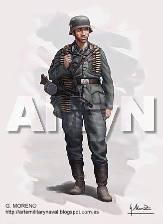 División Azul. Soldado de Infantería