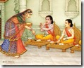 [Rama and Lakshmana eating]