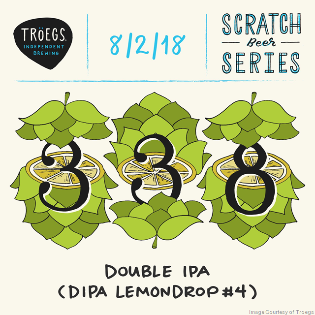Troegs Releasing Scratch #338 & #339 Lemondrop DIPAs