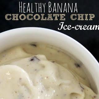 Healthy Banana Chocolate Chip Ice-cream.