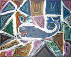 Chalk Pastel Whale by Zoe