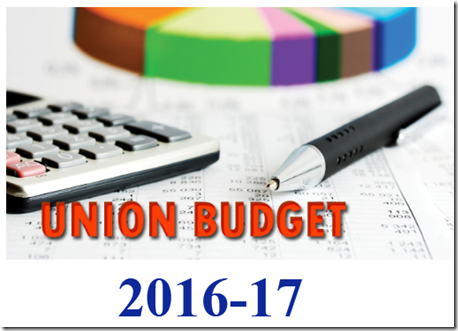 UNION Budget Highlights 2016-17
