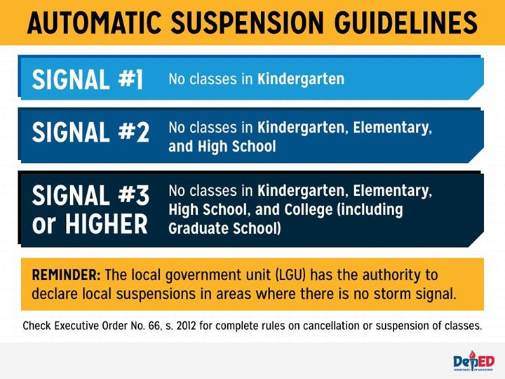 Image of DepEd Class Suspension - October 21, 2015