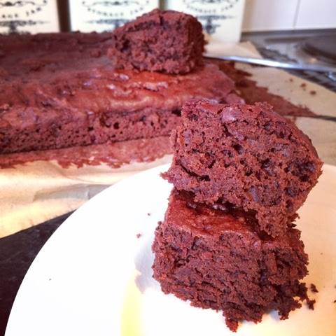 Chocolate and beetroot tray bake