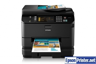 How to reset flashing lights for Epson WorkForce WP-4540 printer