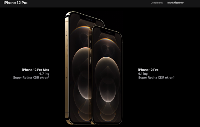 iPhone 12 Pro ve iPhone 12 görseli