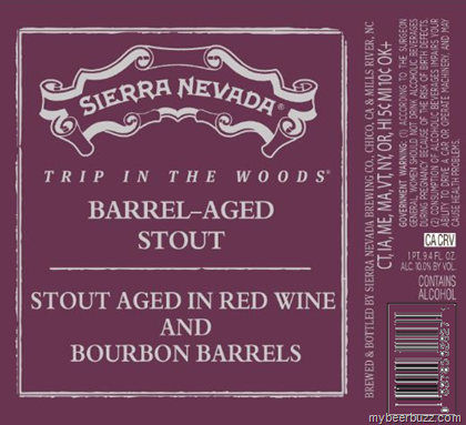 Barrel aged stout this beer is aged in red wine barrels and bourbon